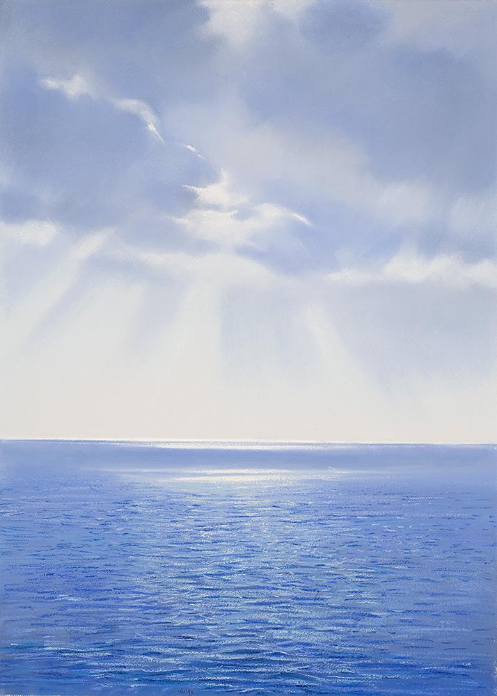 dove il mare si consegna al cielo pastello carta