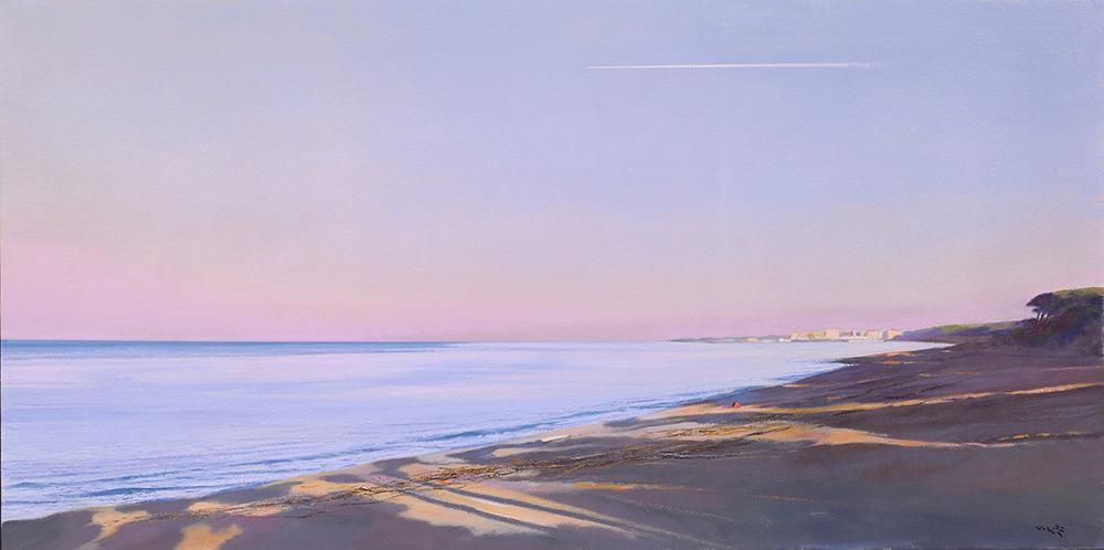 su questa spiaggia deserta olio tela